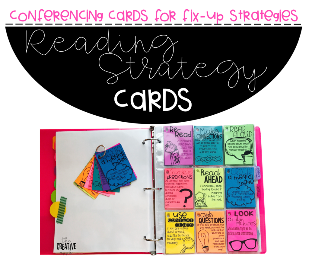 Conferencing with Comprehension 'Fix-Up' Strategy Cards