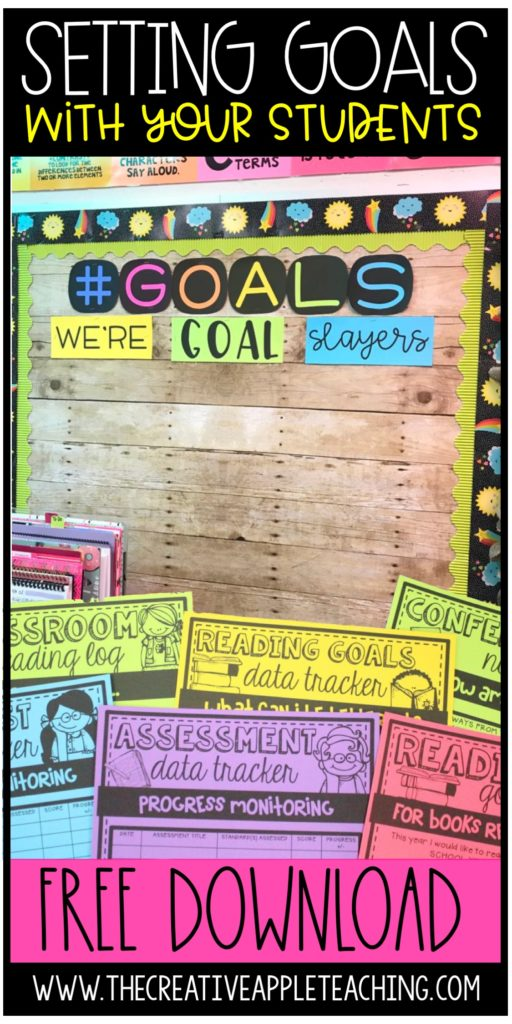 Setting Goals With Your Students The Creative Apple Teaching Resources